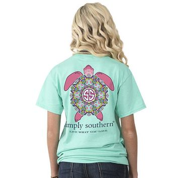 """Youth Simply Southern """"Preppy Turtle"""" Short Sleeve Tee"""
