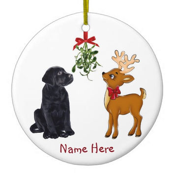 Black Lab Ornament - Black Lab Art 6- Labrador Ornament - Lab Dog - Dog Christmas Ornament - Labrador Retriever - Unique Christmas Ornaments
