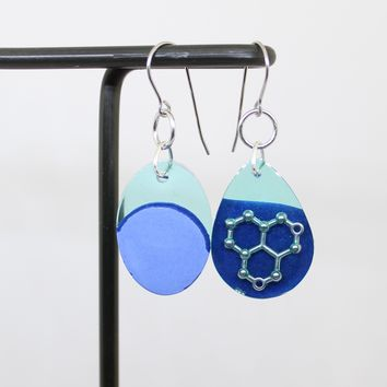 Water molecule earrings