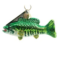 Old World Christmas SMALLMOUTH BASS Glass Ornament 12522