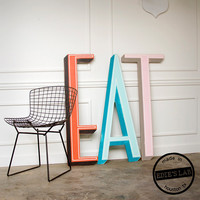 EAT Sign Mid Century Restaurant Diner Sign Neon Channel Letter Style