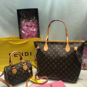 DCC3W Year-End Promotion 3 Pcs Of Bags Combination (LV Bag ,LV Mid Bag ,YSL Wallet) Colorful