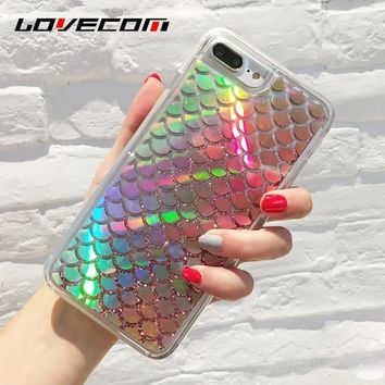 Holographic Mermaid Tail Soft  iPhone Case 7 6 6S Plus