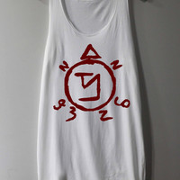 Supernatural Spell Shirt Angel Banishing Sigil Shirt Tank Top Tunic TShirt T Shirt Singlet - Size S M L