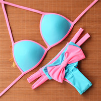 Low Waist Bathing Suit Push Up Swimwear Bikini Set