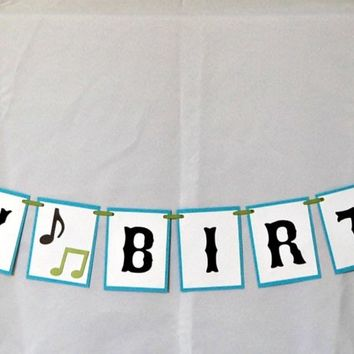 Rock Band Happy Birthday Banner, Rock and Roll Birthday Party Banner, Rock Star Party Decorations