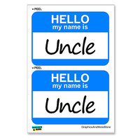Uncle Hello My Name Is - Sheet of 2 Stickers