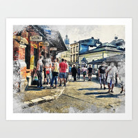 Cracow art 6 Kazimierz #cracow #krakow #city Art Print by jbjart
