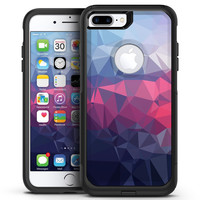 Blue Slate Marble Surface V41 - iPhone 7 or 7 Plus Commuter Case Skin Kit