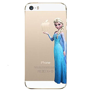 Frozen Elsa Holding Logo Clear Transparent Case For Apple Iphone 6/6s