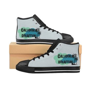 Cali Palm Tree  Dreaming Women's High-top Sneakers
