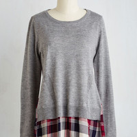 Vintage Inspired Long Long Sleeve A Casual Spin Sweater by ModCloth