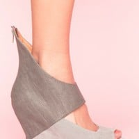Saturn Cutout Wedge - Gray | NASTY GAL | Jeffrey Campbell shoes, Evil Twin, MinkPink, BB Dakota, vintage dresses + more!