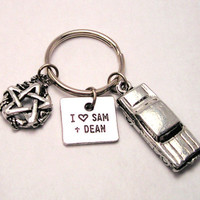 Supernatural I love Sam and Dean Impala  Keychain