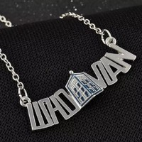 Doctor Who Whovian TARDIS Necklace