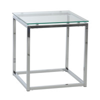 Eurostyle Sandor Clear Glass Side Table