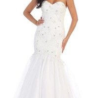 Long Wedding Dress Gown