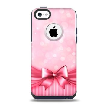 The Magical Pink Bow Apple iPhone 5c Otterbox Commuter Case Skin Set