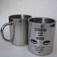 Cthulhu Is Not Quite Risen Stainless Steel Mug