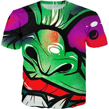 green graffiti gremlin full print t-shirt