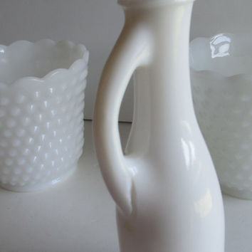 Antique Milk Glass Bud Vase Wedding Table Decor Unusual Milk glass Vase