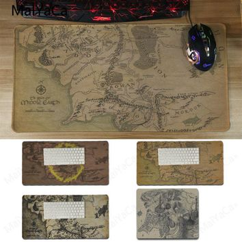 Yinuoda The Lord of the Rings map Gamer Speed Mice Retail Small Rubber Mousepad Size 180x220 mm and 300*600*2mm Gaming Mousepads