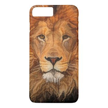 Painted Lion King of the Beast Phone Case