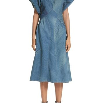 Junya Watanabe Denim Patchwork Dress | Nordstrom