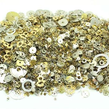 DHL Free Shipping 500g/lot Mixed Vintage Steampunk Watch Parts Pieces Gears Wheel Warhammer DIY