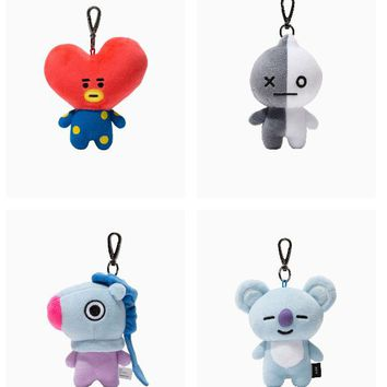 Frduntommy Love Yourself Kpop Bangtan boys BTS same Pillow plush Cushion warm bolster Q back lovely Doll TATA hot sale 2018