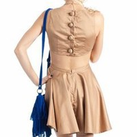 bow front open back dress $42.60 in TAUPE - Dressy | GoJane.com