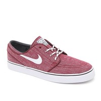 Nike SB Stefan Janoski Canvas Red & White Shoes - Mens Shoes - Red