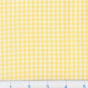 Kaufman 1/8'' Carolina Gingham Yellow