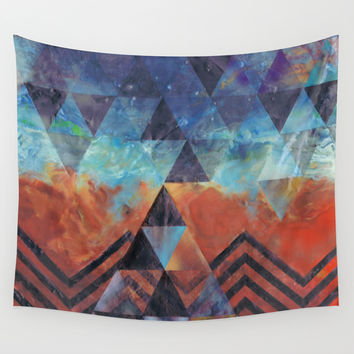 Astral-Projectionist Wall Tapestry by Brenda Erickson