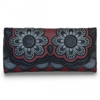 """""""Owl"""" Trifold Wallet by Loungefly (Red/Grey)"""