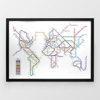 World Tube Map Print by Michael Tompsett  at Firebox.com