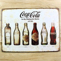 History Of Coca Cola Tin Sign