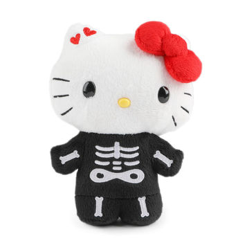 "Hello Kitty 7"" Reversible Plush: Skull and Bones"