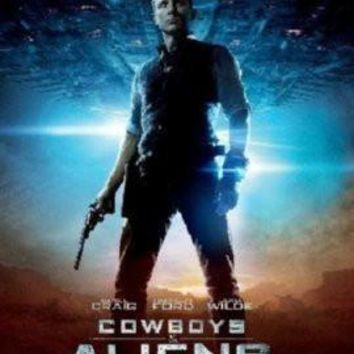 Cowboys And Aliens Movie poster Metal Sign Wall Art 8in x 12in