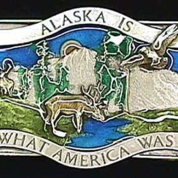 Sports Jewelry & AccessoriesSports Accessories - Alaska Is What America Enameled Belt Buckle
