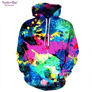 Colorful Abstract Paint Designed Hoodie