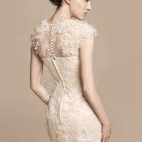 OASAP - Flowers Embroidered Cut Out Detail Dress - Street Fashion Store