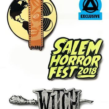 Salem Horror Fest 3 Piece Pin Set (Limited Edition)