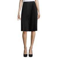 Liz Claiborne Woven Pleated Skirt - JCPenney