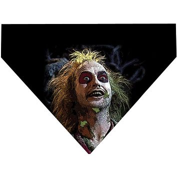 Halloween Over the Collar Dog Bandana - Beetlejuice