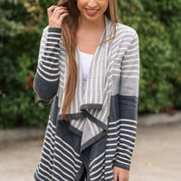 Charcoal Stripes Cardigan
