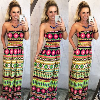 Bright Tribe Pocket Maxi Dress