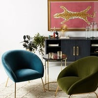 Velvet Hillside Accent Chair