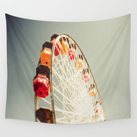 Santa Monica Pier Wall Tapestry by SoCal Chic Photography