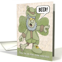 Zombie Leprechaun Groaning for Beer for St. Patrick's Day card